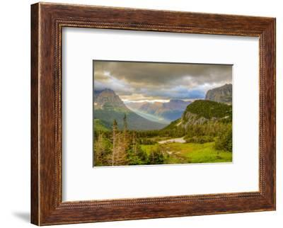 Montana, Glacier National Park, Logan Pass. Sunrise on Mountain Landscape-Jaynes Gallery-Framed Photographic Print