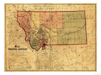 Montana - Panoramic Map-Lantern Press-Art Print