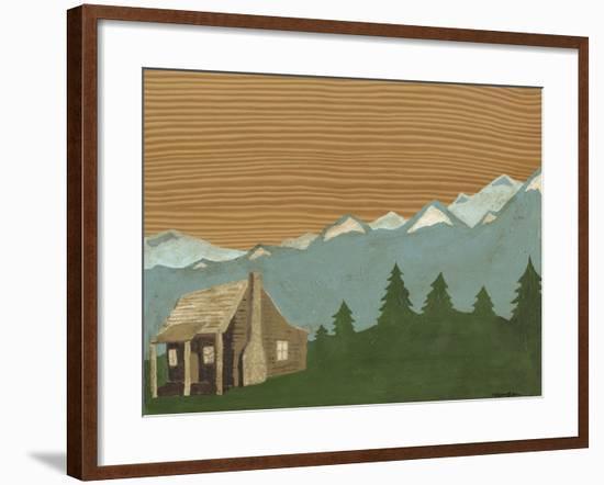 Montana Sky #1-Vanna Lam-Framed Art Print