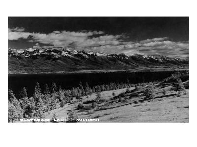Montana - View of Flathead Lake-Lantern Press-Art Print