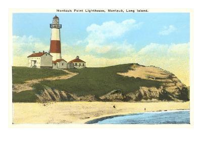 Montauk Point Lighthouse, Long Island, New York--Art Print