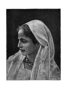Young Jewish Woman of Cairo, Egypt, 1882 by Montbard