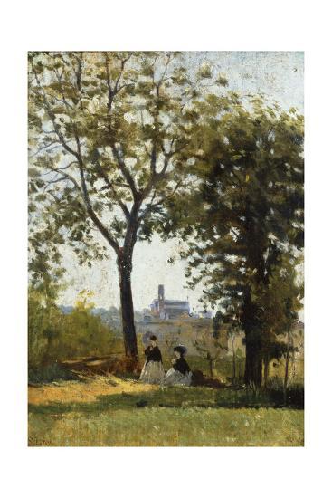 Monte Alle Croci (Hill of San Miniato), C. 1870-Silvestro Lega-Giclee Print