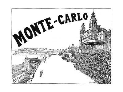 Monte Carlo Advert-G Renault-Giclee Print