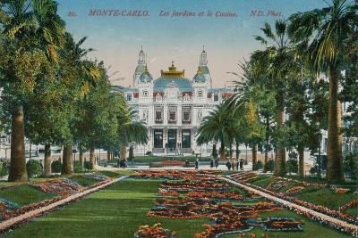 Monte-Carlo. The Gardens and the Casino. Postcard Sent in 1913-French Photographer-Giclee Print