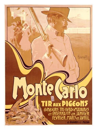 Monte Carlo, Tir aux Pigeons-Adolfo Hohenstein-Giclee Print