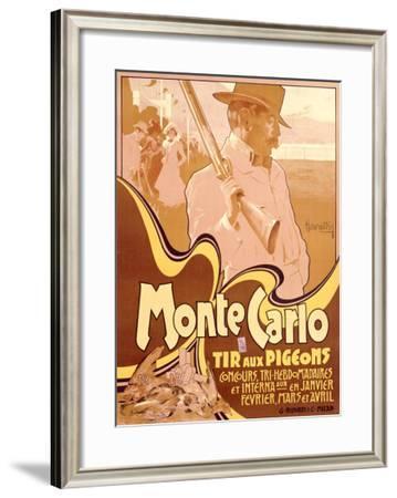 Monte Carlo, Tir aux Pigeons-Adolfo Hohenstein-Framed Giclee Print