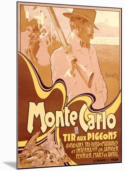 Monte Carlo, Tir aux Pigeons-Adolfo Hohenstein-Mounted Giclee Print
