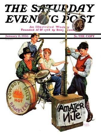 """""""Amateur Night,"""" Saturday Evening Post Cover, January 11, 1936"""