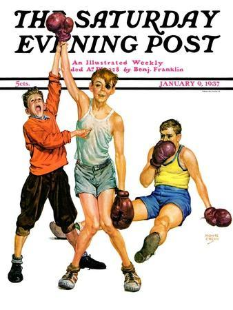 """""""Boxing Champ,"""" Saturday Evening Post Cover, January 9, 1937"""
