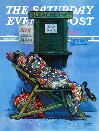 """""""First in Line for Tickets,"""" Saturday Evening Post Cover, September 30, 1939"""