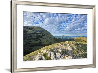Monte Cucco at sunset, Monte Cucco Park, Apennines, Umbria, Italy, Europe-Lorenzo Mattei-Framed Photographic Print