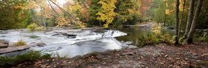 Bond Falls Panorama in Fall, Bruce Crossing, Michigan '09 by Monte Nagler