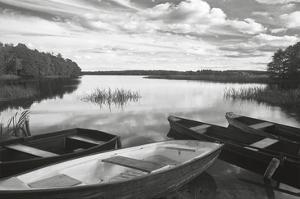 Four Boats at Sunset by Monte Nagler