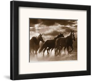 Running Horses and Sunbeams by Monte Nagler