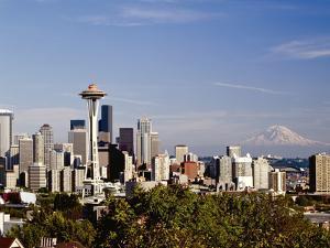 Seattle Cityscape, Seattle, Washington by Monte Nagler