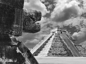The Serpent And The Pyramid, Chechinitza, Mexico 02 by Monte Nagler