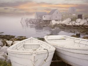Two Boats at Sunrise, Nova Scotia ?11 by Monte Nagler