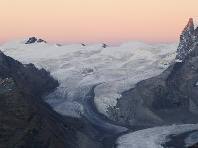 Monte Rosa Glacier at Dusk, Zermatt Alpine Resort, Valais, Switzerland-Christian Kober-Photographic Print