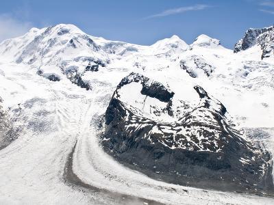 Monte Rosa Massif from Gronergrat, Gornergrat Peak, Switzerland-Michael DeFreitas-Photographic Print