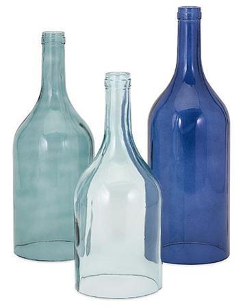 Monteith Blue Cloche Bottle Trio