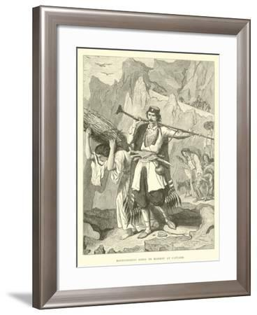 Montenegrins Going to Market at Cattaro--Framed Giclee Print