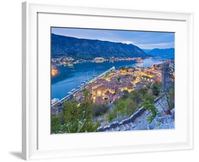 Montenegro, Bay of Kotor, Kotor-Alan Copson-Framed Photographic Print