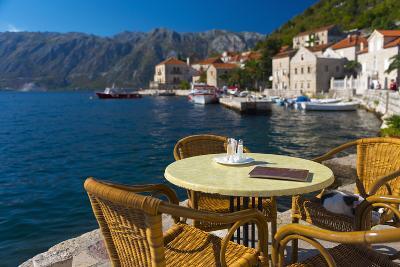 Montenegro, Bay of Kotor, Perast, Waterside Cafe-Alan Copson-Photographic Print