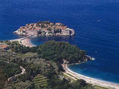 Montenegro, Milocer, Hotel, Sveti Stefan, Overview-Thonig-Photographic Print