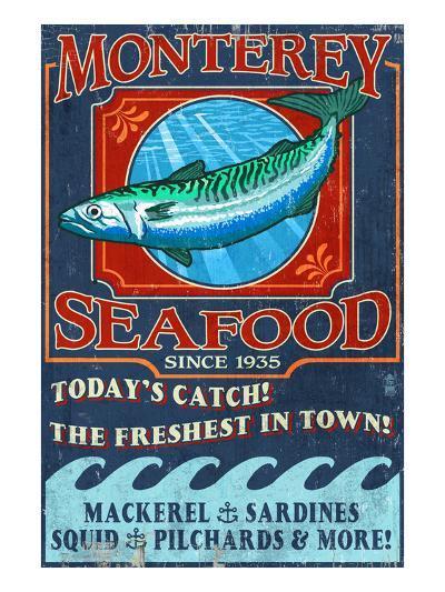 Monterey, California - Seafood-Lantern Press-Art Print