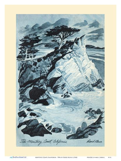 Monterey Coast, California - TWA (Trans World Airlines) Menu Cover-David Klein-Art Print