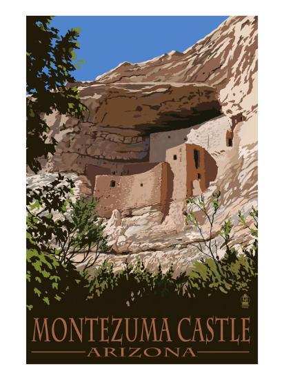Montezuma Castle, Arizona-Lantern Press-Art Print