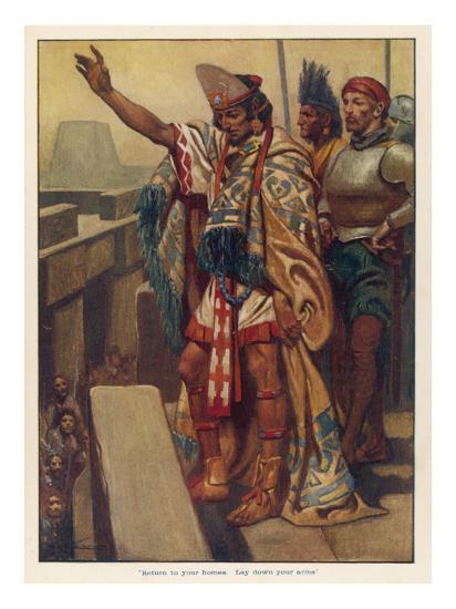 Montezuma's Address--Giclee Print