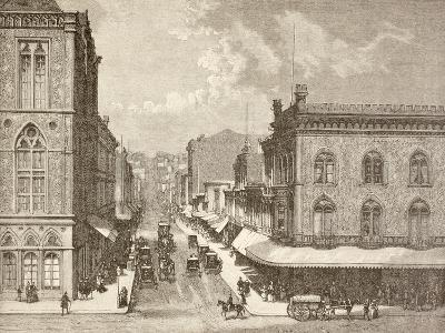 Montgomery Street, San Francisco in the 1880S--Giclee Print