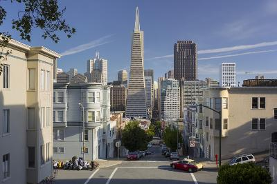 Montgomery Street, Transamerica Pyramid, Telegraph Hill, San Francisco, California, Usa-Rainer Mirau-Photographic Print