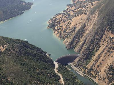 Monticello Dam at the Mouth of Lake Berryessa, California, USA-Marli Miller-Photographic Print