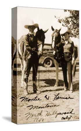 Montie and Louise Montana, 1936