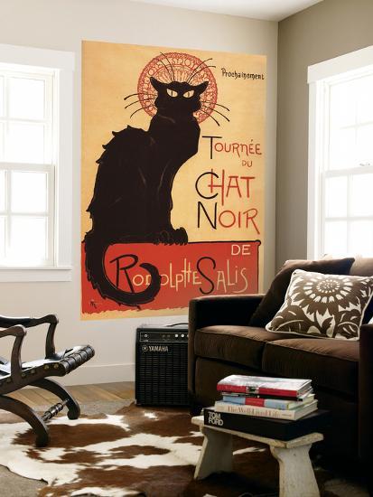 Montmarte, France - Chat Noir Cabaret Troupe Black Cat Promo Poster-Lantern Press-Wall Mural