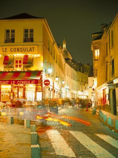 Montmartre Area at Night, Paris, France-Roy Rainford-Photographic Print