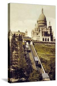 Montmartre, Paris, C. 1905 : the Funicular and the Sacre Coeur