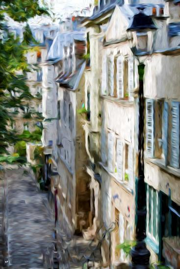 Montmartre Street II - In the Style of Oil Painting-Philippe Hugonnard-Giclee Print