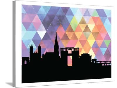 Montpellier Triangle-Paperfinch 0-Stretched Canvas Print