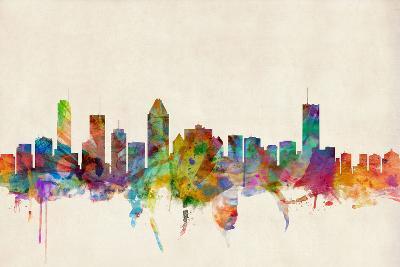 Montreal Canada Skyline-Michael Tompsett-Art Print
