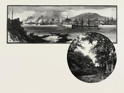 Montreal from St. Helen's Island (Top), the Island Park (Bottom), Canada, Nineteenth Century--Giclee Print