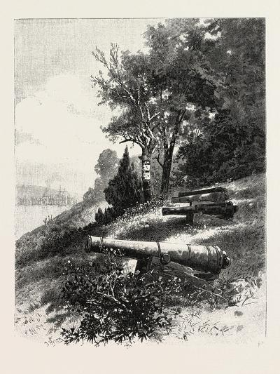 Montreal, Old Battery, St. Helen's Island, Canada, Nineteenth Century--Giclee Print