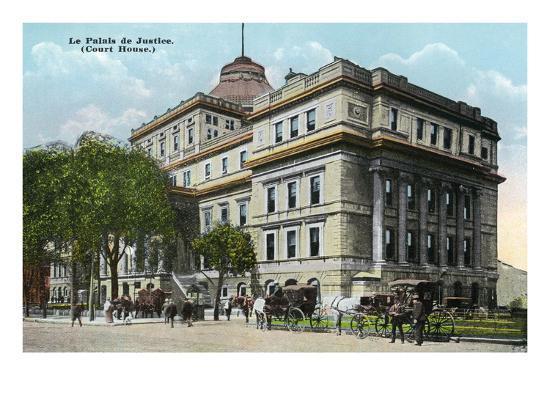 Montreal, Quebec - Court House Exterior-Lantern Press-Art Print