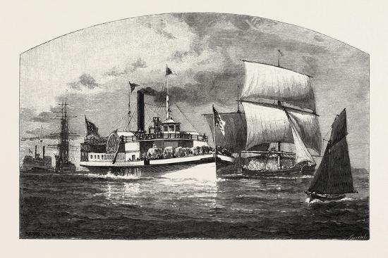 Montreal, the Longueuil Ferry, Canada, Nineteenth Century--Giclee Print