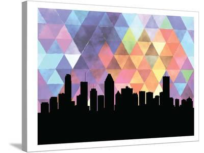Montreal Triangle-Paperfinch 0-Stretched Canvas Print