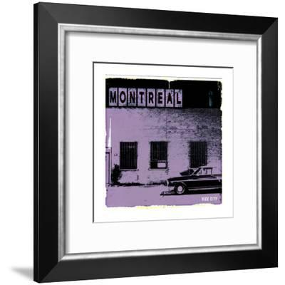Montreal Vice City in Purple-Pascal Normand-Framed Art Print