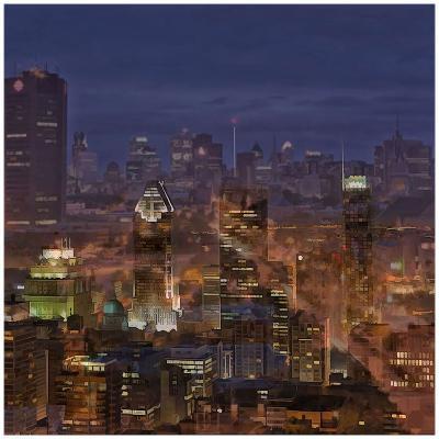 Montreal view-Jefd-Art Print